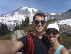 Phil & I hiking around Mt. Rainier